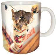 Stocking Stuffer Squirrel Mug   Christmas Mug