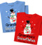 Snowman T-Shirt | Personalized Title and Names | Choose Red or Blue