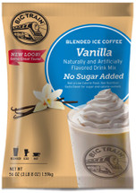 Big Train's No Sugar Added (NSA) Vanilla Latte Blended Ice Coffee Mix is perfect for coffee lovers who like it sweet but are watching their sugar intake. Our sweet, creamy drink mix refreshes with aromatic, full-bodied Arabica coffee and the exotic yet familiar flavor of Madagascar vanilla bean. And our rich-tasting ice coffee base is sweetened with sugar substitutes and contains nonfat milk for smooth, consistent texture. Hot or iced, our creamy vanilla latte mix is sure to please coffee lovers in search of a decadent drink with gourmet flavor.