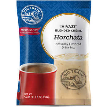 """Big Train's Horchata VIVAZ (pronounced vee-vaz) a delicious beverage inspired by traditional Mexican recipes. VIVAZ, derived from the Spanish word for """"vivacious,"""" is a lively take on traditional drinks but with a Big Train twist. Experience this refreshing, flavorful """"orxata"""" drink blended or over ice for a traditional """"Agua Fresca"""" style beverage."""