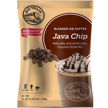 Java Chip Blended Ice Coffee drink mix from Big Train combines decadent chocolate chips with smooth Arabica coffee to create an amazing blend of ingredients for the ultimate coffee frappe.