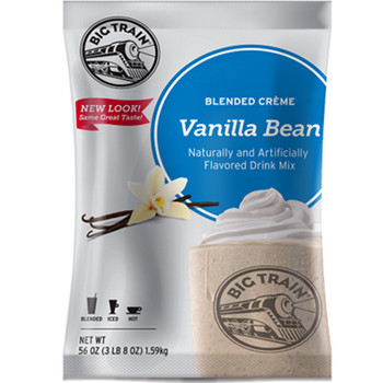 Vanilla Bean Blended Crème frappe mix from Big Train is quite simply one of Big Train's best flavors.This coffee-free gourmet beverage mix can be served on its own or as a base to create your own signature drinks.
