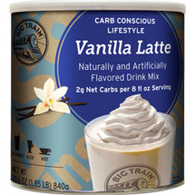 With only 2 grams net carbs per 8 oz serving, no added sugar and a rich, creamy taste, Big Train's Low Carb Vanilla Latte Blended Ice Coffee mix allows you to get your blended ice coffee fix while maintaining your low carb lifestyle.
