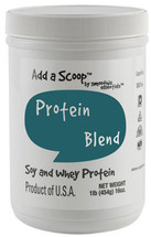 "Add a Scoop Protein Blend – Soy Protein Isolate, Whey Protein Concentrate, Inulin – – ""Excellent"" Source of protein which helps build and repair body tissues."