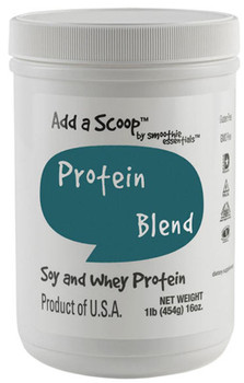 """Add a Scoop Protein Blend – Soy Protein Isolate, Whey Protein Concentrate, Inulin – – """"Excellent"""" Source of protein which helps build and repair body tissues."""