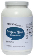 "Add a Scoop Protein Blend – Soy Protein Isolate, Whey Protein Concentrate, Inulin – – ""Excellent"" Source of protein which helps build and repair body tissues. 160 servings per 2.5-pound canister."