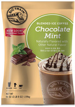 Chocolate Mint Blended Ice Coffee is like having your cake and eating it too. Rich minty cocoa mixed with Arabica coffee combine to make an amazing beverage. In addition to being gluten free, Big Train's Chocolate Mint Blended Ice Coffee contains no trans-fat, no hydrogenated oils and is Kosher and Halal Certified.