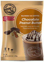 Chocolate Peanut Butter Blended Ice Coffee is like drinking a gourmet caffeinated peanut butter cup, in a cup. Yum! This amazing drink mix is as delicious as it is easy to make. In addition to being gluten free, Big Train's Chocolate Peanut Butter Blended Ice Coffee contains no trans-fat, no hydrogenated oils and is Kosher and Halal Certified.