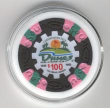 Dunes Hotel and Country Club Las Vegas Poker Chip Card Guard Casino $100 WSOP