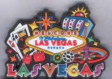 Las Vegas Gaming 3D Magnet