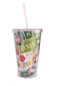 Las Vegas Craps Table Roll of the Dice Travel Tumbler with Straw