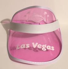 Las Vegas Pink Poker Visor Palm Trees