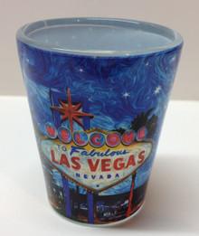 Welcome To Fabulous Las Vegas Sign Shot Glass