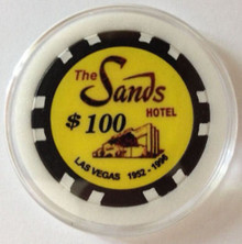 Sands Las Vegas $100 Poker Chip Card Guard