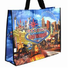 Las Vegas Sign Hotels Neon Scene Reusable Tote Bag