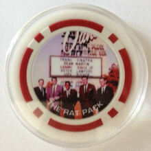 Sands Hotel and Casino Las Vegas Sinatra Rat Pack Poker Chip Card Guard