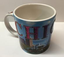 Chicago Glitter Coffee Mug Cup