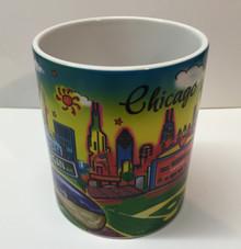 Chicago Skyline Watercolor Coffee Mug