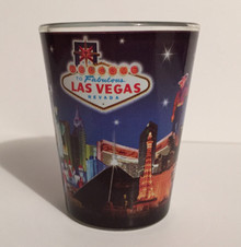Las Vegas Hotels Cowboy Shot Glass