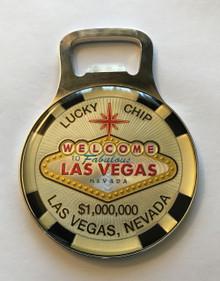 Las Vegas Sign Magnetic Bottle Opener $1 Million Lucky Chip