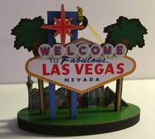 Las Vegas Welcome Sign Hotels Christmas Tree Ornament