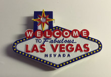 Welcome To Las Vegas Sign Casino Magnet Rhinestone