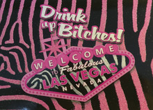 Las Vegas Drink Up Bitches Pink Postcard