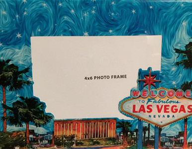 Las Vegas Sign Blue Sky Stars Photo Frame