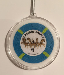 Caesars Palace Las Vegas Casino Chip Holiday Ornament