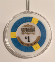 Golden Nugget Las Vegas Casino Chip Holiday Ornament