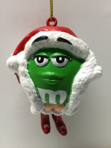 M&M Candy Green Holiday Christmas Tree Ornament