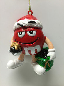 M&M Candy Red Holiday Tree Ornament