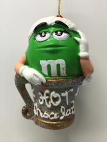 M&M Green Tree Ornament Holiday Mars Candy Hot Chocolate