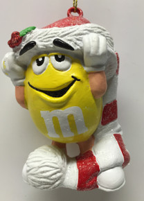 M&M Peanut Candy Yellow Holiday Ornament