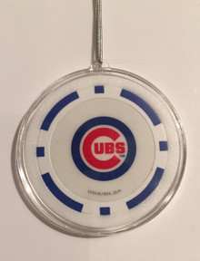 Chicago Cubs Blue Poker Chip Christmas Tree Hanging Ornament