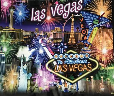 Las Vegas Neon Sign Hotels Night Scene Reusable Tote Bag
