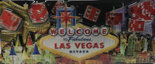 Las Vegas Hotels Red Dice Foil Magnet