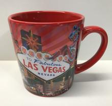 Las Vegas Sign Red Coffee Mug 16 Ounce