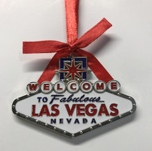 Las Vegas Sign Holiday Christmas Hanging Tree Ornament