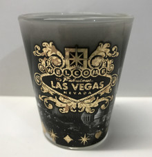Las Vegas Sign Black Gold Shot Glass