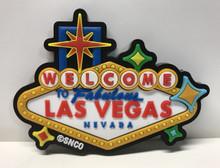 Las Vegas Welcome Sign Casino 3D Color Magnet