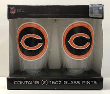 Chicago Bears Pint Glass Gift Set NFL