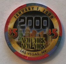 New York New York Las Vegas $5 Millenium Casino Chip