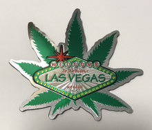 Welcome To Las Vegas Green Leaf Magnet