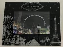 Las Vegas Hotels Black Glitter Picture Frame