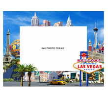 Welcome To Las Vegas Hotels Blue Glass Picture Frame