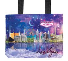 Las Vegas Hotels Nylon Handbag Tote Bag Zippered