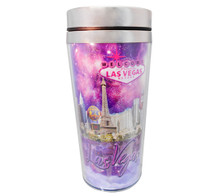 Las Vegas Purple Skyline Travel Mug
