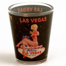 Las Vegas Pinup Girl Shot Glass