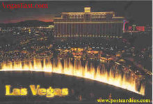 Bellagio Fountains Las Vegas Postcard